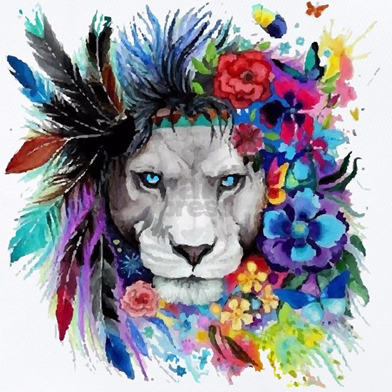 Colorful Lion Pained Look effect