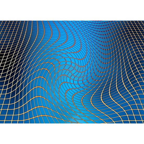 Gravity waves in space-time, artwork