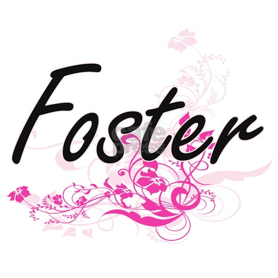 Foster surname artistic design with Flowers