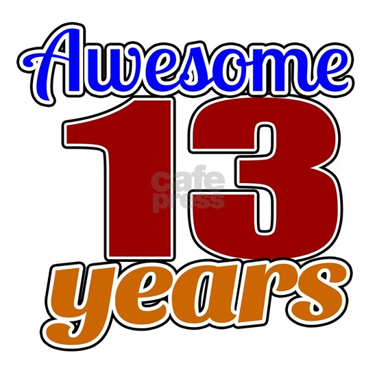 13 Awesome Years Birthday Designs