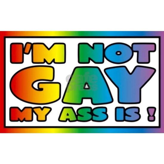 I'm not gay my ass is