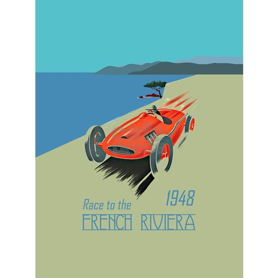 FRENCH RIVIERA-RACE CAR-1948