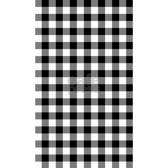 Black and White Gingham Checked Pattern