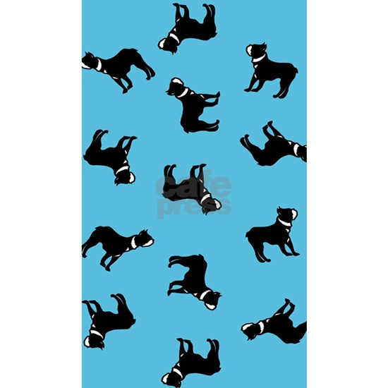 Boston Terriers on Blue