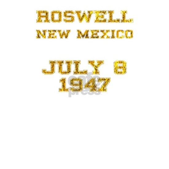 Roswell Alien UFO Sighting 1947 Gold