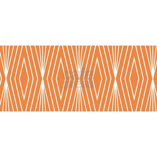 Simple Modern Diamond Lines Orange