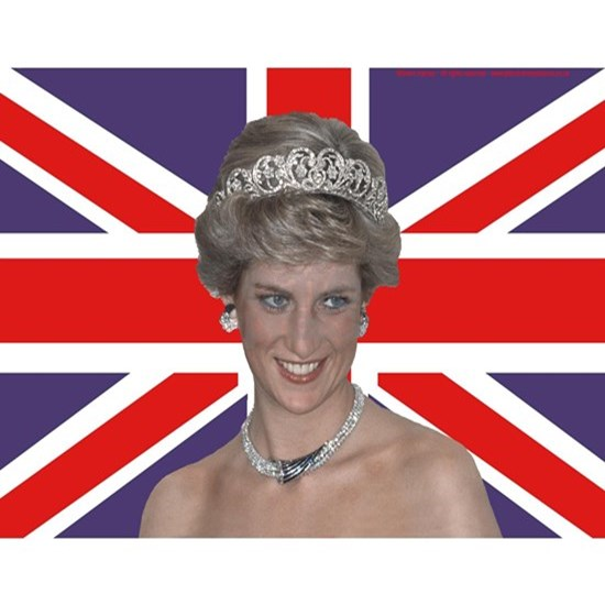 Princess Diana flying the Flag