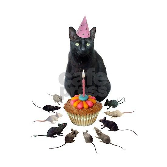 Black Cat Birthday Rats
