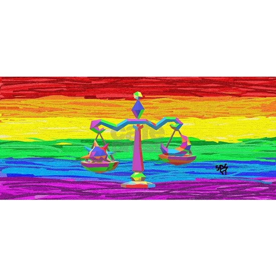 LIBRA Zodiac GAy Rainbow Art