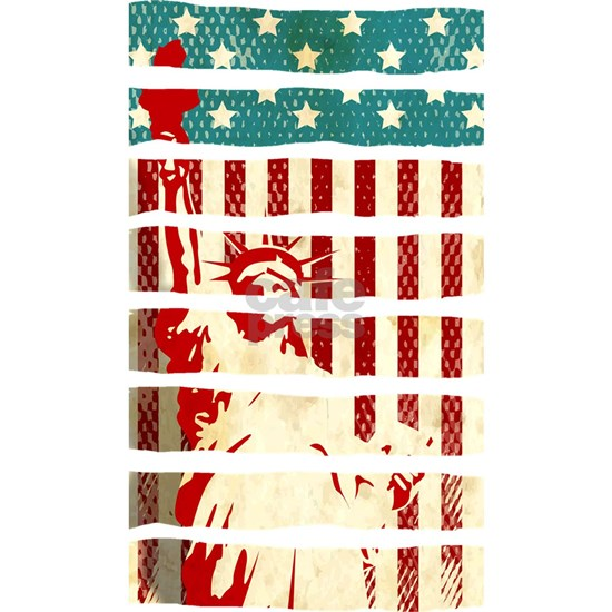American Flag Statue of Liberty Patriotic 4th of J