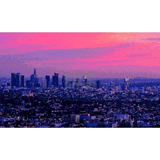 Los Angeles Sunset Pixel Art Iphone 7 Tough Case