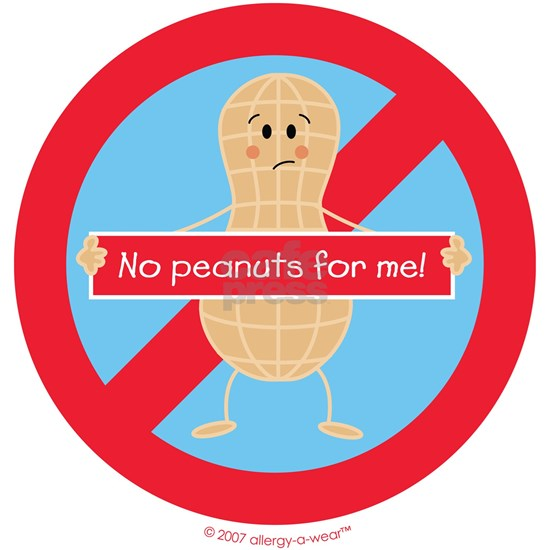 No peanuts for me! by allergy-a-wear™