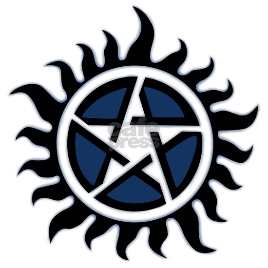 Blue Anti possession pentagram symbol
