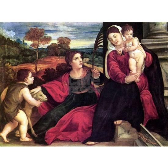 Madonna and Child With Sts Agnes and John the Bapt