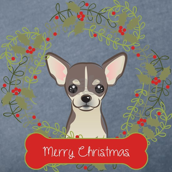 Chihuahua Christmas Wreath