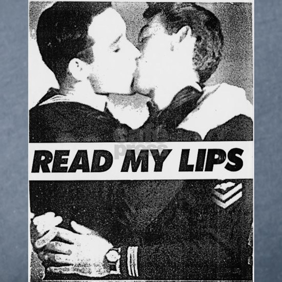 Read My Lips Vintage Photo Boys Kissing