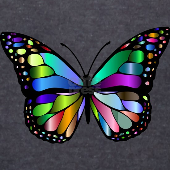 Prismatic Rainbow Winged Butterfly