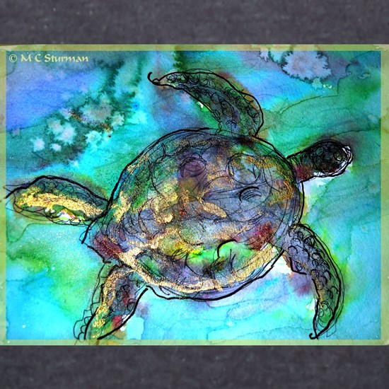 Sea Turtle, Wildlife art!