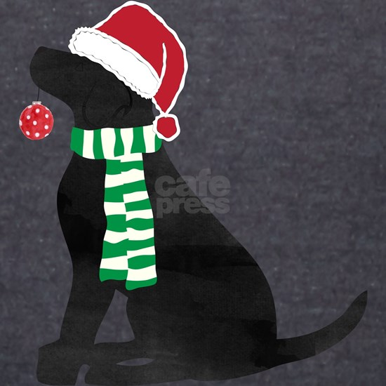 Christmas Black Lab Holiday Dog