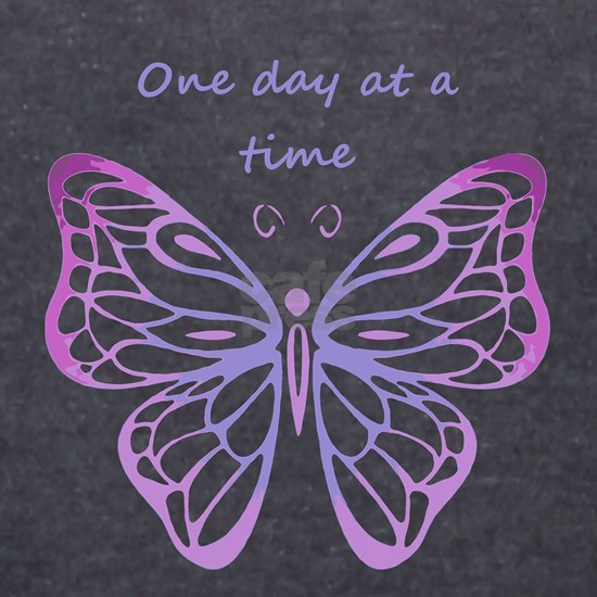 One Day at a Time Quote Butterfly Art