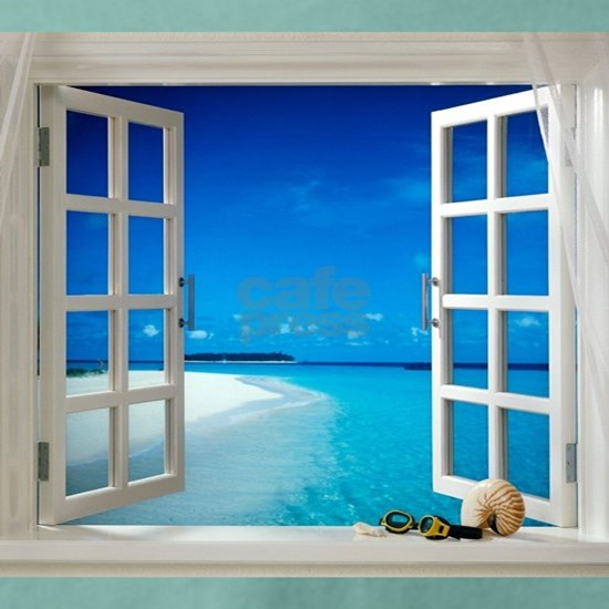 Open Window With Ocean View
