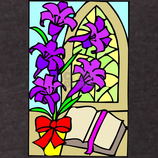 Purple Lilies For Easter Sticker