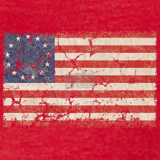 13 Colonies US Flag Distressed