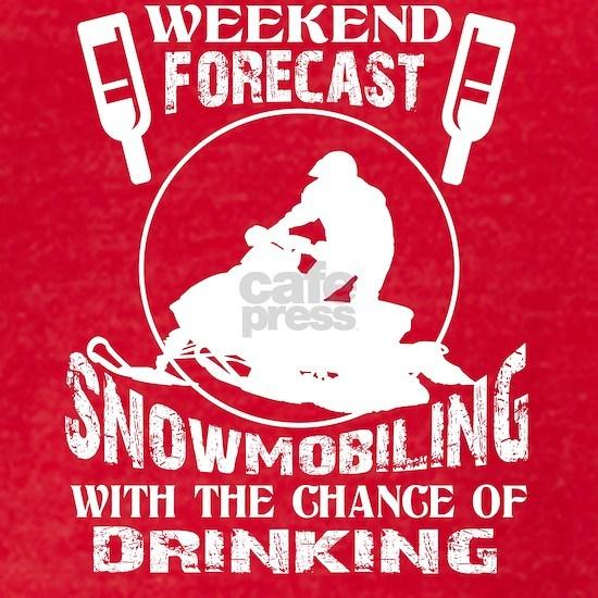 Weekend Forecast Snowmobiling T Shirt