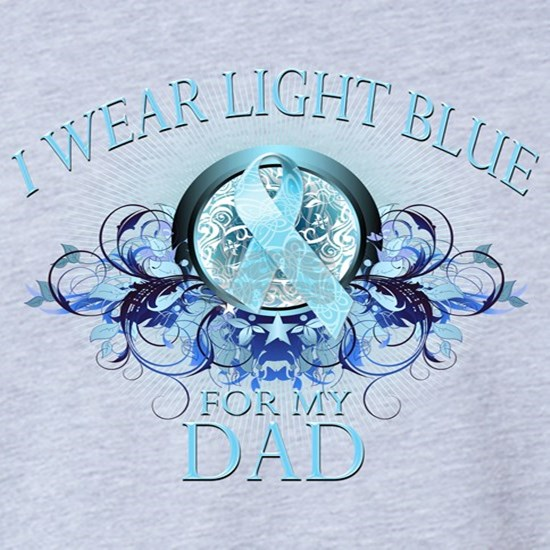 I Wear Light Blue for my Dad (floral)