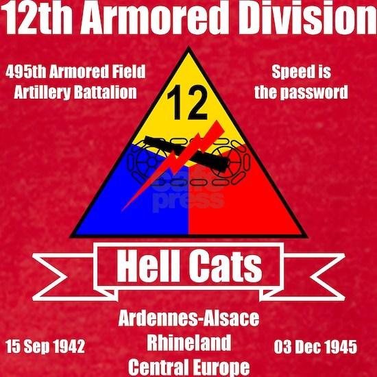 12th Armored Black Ts