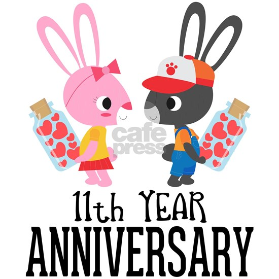11th Anniversary Couple Bunnies