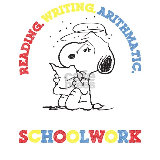 Snoopy Reading Writing
