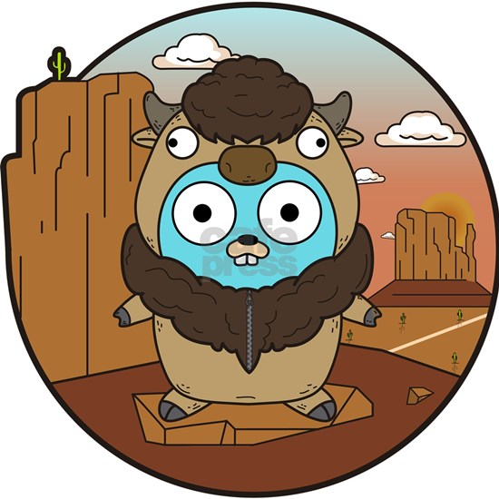 Buffalo Gopher in Desert