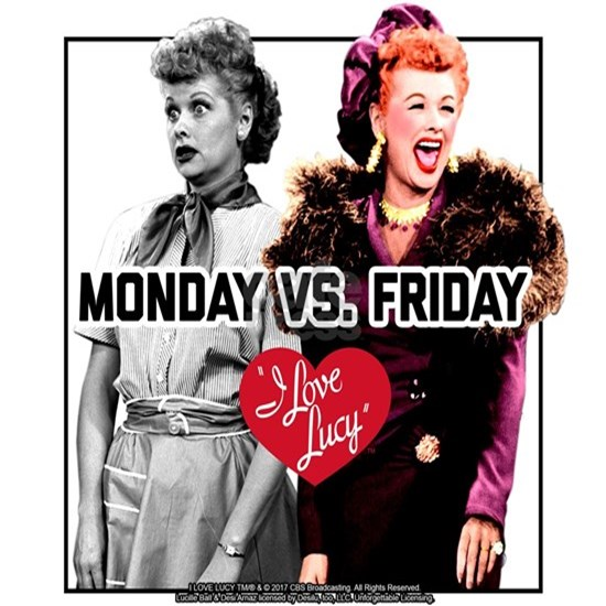 I Love Lucy Monday Vs. Friday