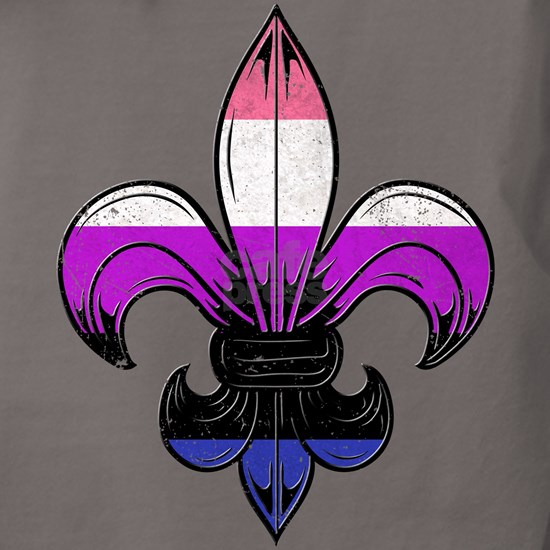 Genderfluid Pride Flag Fleur de Lis T-Shirt