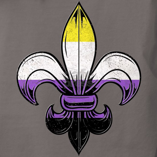 Nonbinary Pride Flag Fleur de Lis T-Shirt
