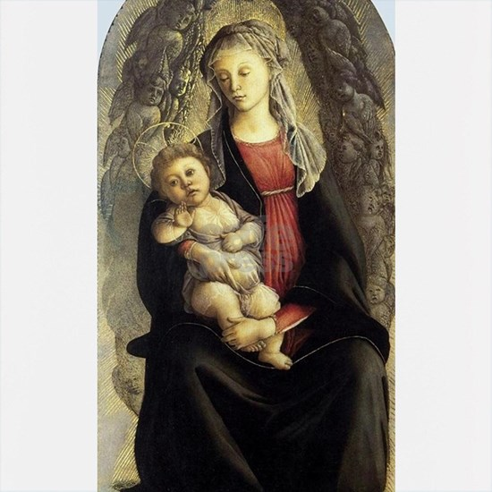 Madonna in Glory with Seraphim - Botticelli