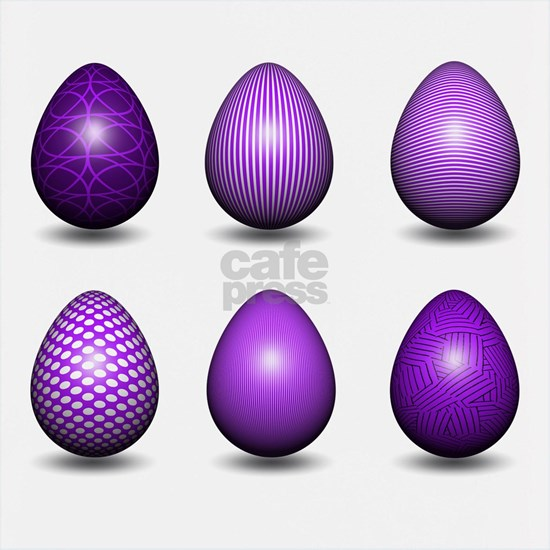 Assorted Purple Easter Eggs