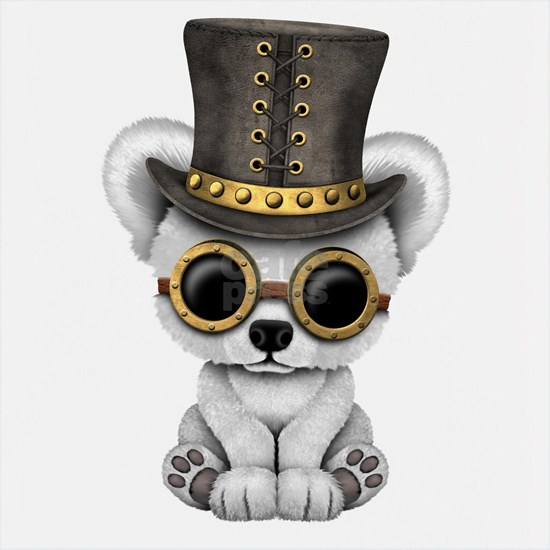 Cute Steampunk Baby Polar Bear