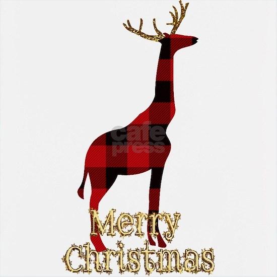 Christmas Plaid Reindeer Giraffe
