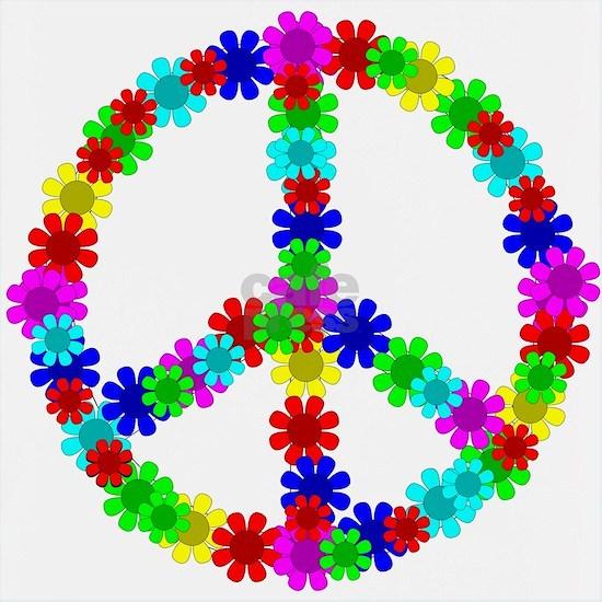 1960s Hippie Flowers Peace