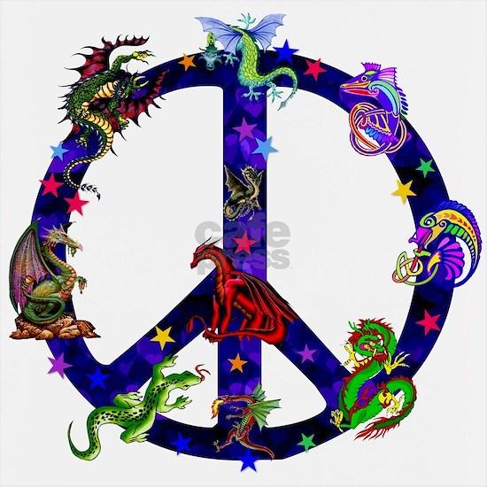 Dragon Peace Sign