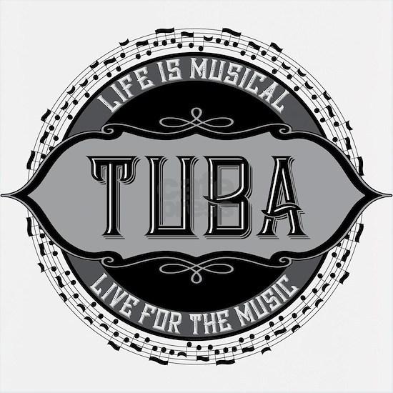 Tuba Music Note Circle