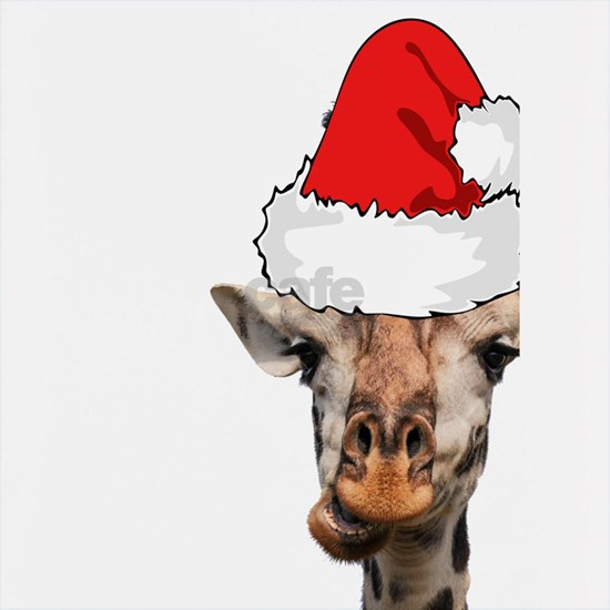 Christmas Giraffe Wearing a Santa Hat Holiday Gira