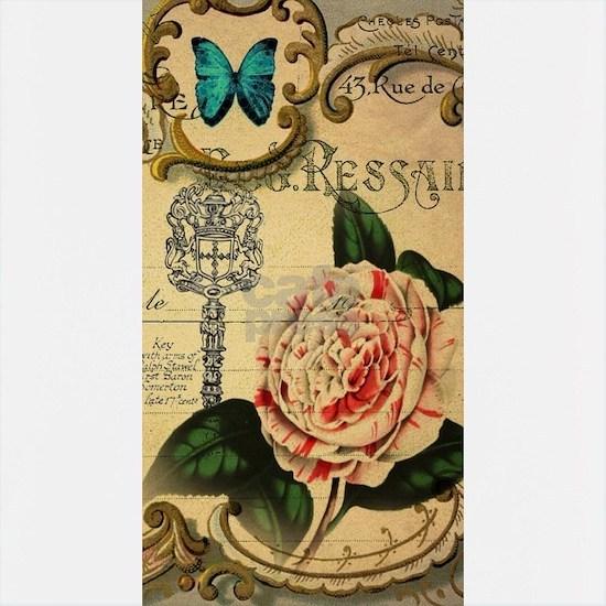 butterfly rose vintage keys victorian