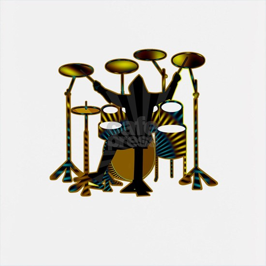 Drummer guy playing his drum set