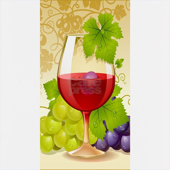 Wine Glass and Grape Vines