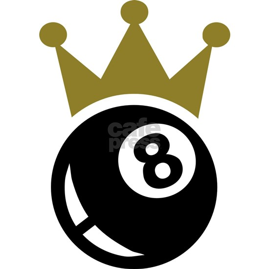 Eight ball billiards crown