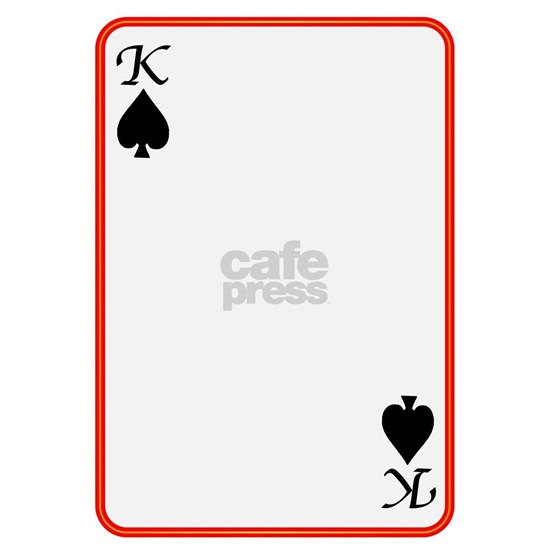 Blank Playing Card King Spades Cap by ADMIN_CP133759785 ...