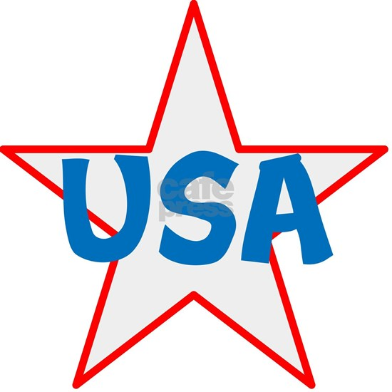 USA, red, white, blue, star!